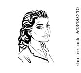 portrait woman beauty character ...   Shutterstock .eps vector #643486210