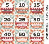 vector set of anniversary... | Shutterstock .eps vector #643487059