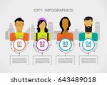 city people infographic on the... | Shutterstock .eps vector #643489018