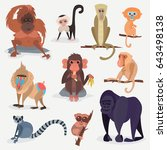 Different Cartoon Monkey Breed...