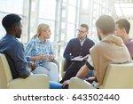 start up meeting of several... | Shutterstock . vector #643502440