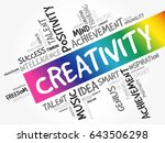 creativity word cloud collage ... | Shutterstock .eps vector #643506298