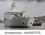 Fruit Carrier Ship Being Pushe...
