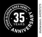 35 years anniversary logo... | Shutterstock .eps vector #643507273