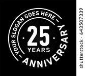 25 years anniversary logo... | Shutterstock .eps vector #643507339