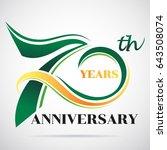 70 years anniversary... | Shutterstock .eps vector #643508074