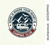 camper and caravaning club.... | Shutterstock .eps vector #643509943