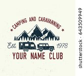 camper and caravaning club.... | Shutterstock .eps vector #643509949