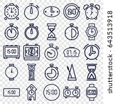 clock icons set. set of 25... | Shutterstock .eps vector #643513918