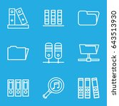 organize icons set. set of 9... | Shutterstock .eps vector #643513930