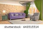 interior living room. 3d... | Shutterstock . vector #643515514