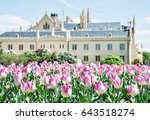 majestic lednice castle with... | Shutterstock . vector #643518274