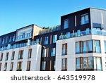 modern apartment buildings... | Shutterstock . vector #643519978