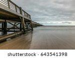 pier of saint jean de monts ...   Shutterstock . vector #643541398