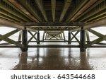 under the pier of saint jean de ...   Shutterstock . vector #643544668