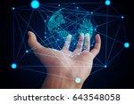 abstract technology concept... | Shutterstock . vector #643548058