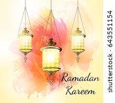 ramadan kareem lantern on a...   Shutterstock . vector #643551154