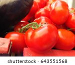 fresh red tomatoes are waiting... | Shutterstock . vector #643551568