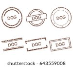 dog stamps | Shutterstock .eps vector #643559008