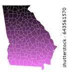 map of georgia | Shutterstock .eps vector #643561570