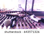 the microphone in the control...   Shutterstock . vector #643571326