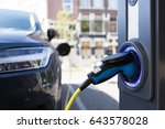 view of an electric car... | Shutterstock . vector #643578028