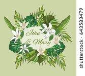 wedding invitation template ... | Shutterstock .eps vector #643583479