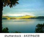 fantastic sunlight on the hills ... | Shutterstock . vector #643596658