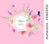 watercolor flowers | Shutterstock . vector #643603426