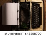 old typewriter | Shutterstock . vector #643608700