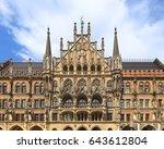 munich city hall  marienplatz ... | Shutterstock . vector #643612804