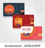 festival gift card template...   Shutterstock .eps vector #643614049