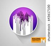 building abstract. design... | Shutterstock .eps vector #643617100