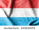 luxembourg cotton flag | Shutterstock . vector #643620454