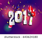 2017 2018 change represents the ... | Shutterstock .eps vector #643624180
