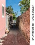 amour street in la chaume  les...   Shutterstock . vector #643630684