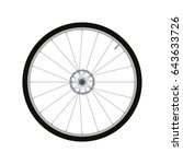 bicycle front wheel with disc... | Shutterstock .eps vector #643633726