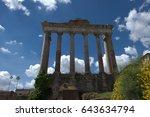 roman forum in rome  italy | Shutterstock . vector #643634794