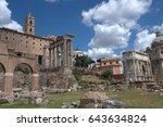 roman forum in rome  italy   Shutterstock . vector #643634824