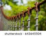 a close up of heavy duty steel...   Shutterstock . vector #643645504