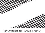 checkered flag. racing flag... | Shutterstock .eps vector #643647040