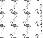 vector seamless pattern with... | Shutterstock .eps vector #643647844