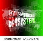 entrepreneurship ecosystem word ... | Shutterstock . vector #643649578