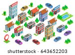 set of isolated isometric... | Shutterstock .eps vector #643652203