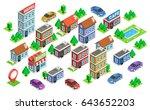 set of isolated isometric... | Shutterstock .eps vector #643652203