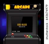 arcade machine screen  vector... | Shutterstock .eps vector #643674979