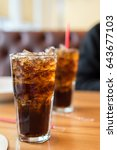 double cool ice soft drink cola ... | Shutterstock . vector #643677103