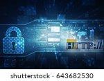 3d illustration network... | Shutterstock . vector #643682530