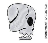 cartoon skull bone fantasy... | Shutterstock .eps vector #643689760