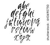 hand drawn dry brush font.... | Shutterstock .eps vector #643690750